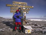 Sima and Arnold: Kilimanjaro together.