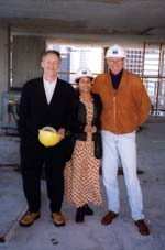 Architect Peter Cardew with Sima and Arnold.